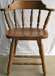 amish solid wood restaurant captain s chair