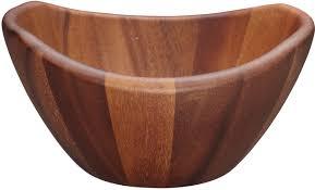 kitchencraft acacia wood serving bowl 1 pc