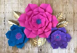 Homemade Paper Flower Decorations Paper Flower Diy Paper Flower Cut File Unicorn Svg Wedding Etsy