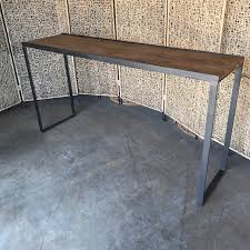 Narrow bar table Hallway Industrial Narrow Bar Table Nadeau Industrial Narrow Bar Table Nadeau Dallas