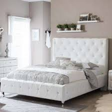 white queen size headboard. Delighful White Stella Transitional White Faux Leather Upholstered Queen Size Bed Intended Headboard