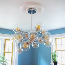 a chandelier and how to install a ceiling medallion