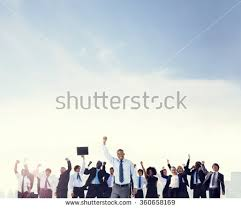 Corporate Celebration Business People Corporate Celebration Success Concept Stock Photo