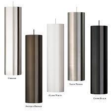 tech piper grande contemporary 20 inch tall metal cylinder line voltage mini pendant light fixture tch pipergrande