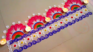 Side Rangoli Designs For Diwali Beautiful Front Door Rangoli Designs For Home Entrance