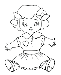 Doll Coloring Pages Of Barbie Dolls