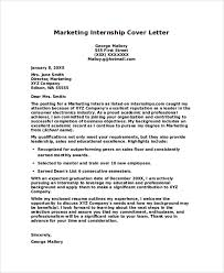 Sample Cover Letter Internship Marketing Cover Letter Example Sample Puentesenelaire Cover Letter