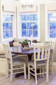 Corner bench dining table set 1