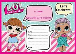Party Invites Online Game Lol Doll Birthday Party Invites Invitations X 10 Pack