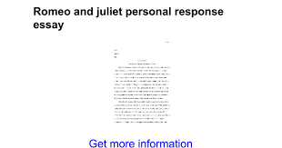 romeo and juliet personal response essay google docs