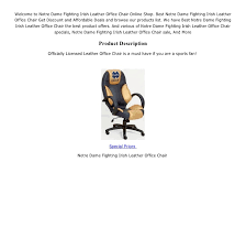 Special Prices; 2. Welcome to Notre Dame Fighting Irish Leather Office Chair  ...