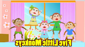 cur five little monkeys jumping on the bed with s kids s regard to no more