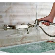 wall mount roman tub faucet bathtub waterfall hand shower kohler