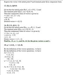 P L Form Solved Express The Vector With Initial Point P And Termin