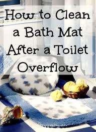 how to clean a bath mat