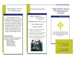 prekindergarten curriculum brochure