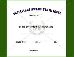 Award Of Excellence Certificate Template Excellence Award Certificate Template Free and Premium Certificate 60