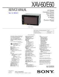 sony cdx 3180 service manual schematics eeprom sony xav 60