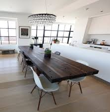 Modern Kitchen Table Lighting Dark Table With Light Chairs Dining Room Transitional With Modern
