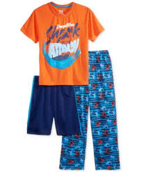 max olivia camo sleep pants only at macy s little boys  max olivia 3 pc shark attack pajama set little boys 2