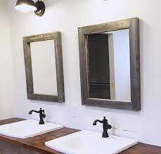 rustic bathroom mirror ideas. 2 reclaimed wood mirrors size 28 x 34 rustic bathroom mirror ideas v