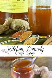 kitchen remedy cough syrup pin image