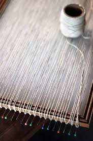 how to turn a picture frame into a weaving loom from hello hydrangea