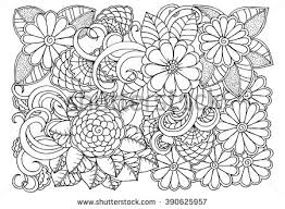 Small Picture Coloring Book Flower Patterns Coloring Pages