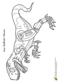 coloriage robot dino 09 sur hugolescargot hugolescargot