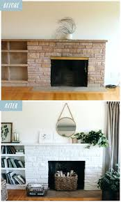 painting a fireplace white lessons from a white painted fireplace makeover painting stone fireplace white