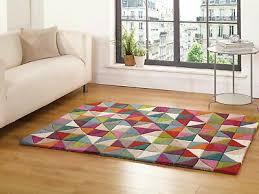 harriet bee brigg hand tufted wool blue pink area rug