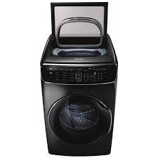 samsung flexwash 6 cu ft high efficiency front load washer black snless steel