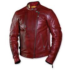 roland sands design men s clash oxblood leather jacket