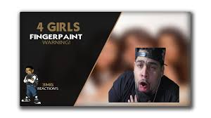 4 girls fingerpaint live reaction almost threw up the people do you