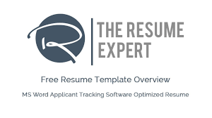 Free Ats Optimized Ms Word Resume Template Overview