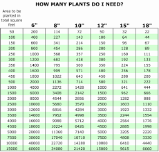 Square Foot Gardening Spacing Chart