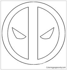Deadpool coloring pages are a fun way for kids of all ages to develop creativity, focus, motor skills and color recognition. Logo Deadpool Simple Coloring Pages Deadpool 2 Coloring Pages Free Printable Coloring Pages Online