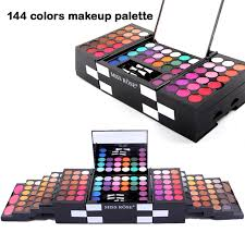 miss rose brand makeup set professional 144 color eyeshadow 3 colors eyebrow 3 color