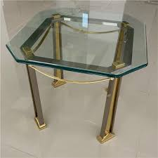 milo baughman table with glass top