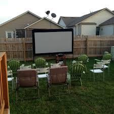 Backyard Drivein Movie Party  U2022 RecyclartMovie Backyard