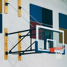 wall mounted side folding basketball