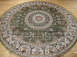 2 of 3 silk rug 6 ft round rugs green circle shape carpet foot incredible 6 ft round area rugs