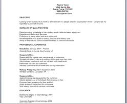 beautician resume sample resume template skylogic cosmetology