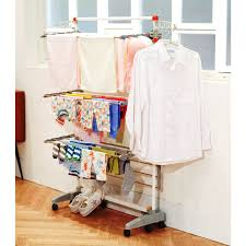 idee PDR12E Premium Foldable 8-wheeled Clothes Laundry Drying Rack with  Stainless Steel Hanging Rods - Free Shipping Today - Overstock.com -  19325783