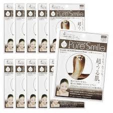 <b>Pure Smile</b> JAPAN <b>Pure Smile</b> snake venom face mask 10 pieces ...