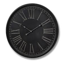 charcoal grey wall clock undefined