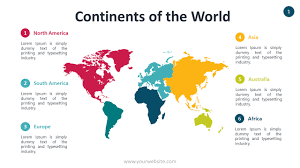 Continents Of The World Template For Your Geography