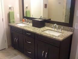 Java Cherry Vanity Cabinets. contemporary-bathroom