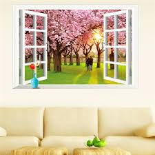 faux window wall art wall decal window fake faux window wall mural