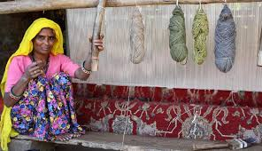 in rajastan weaving villages handlooms are typically inside the house this way the women who always do the weaving can work at home and oversee their